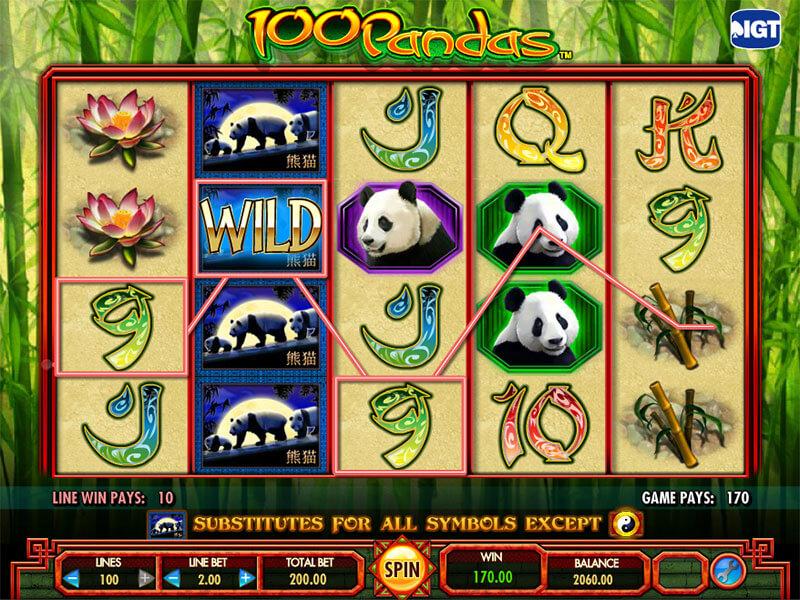 100 Pandas Slot gameplay