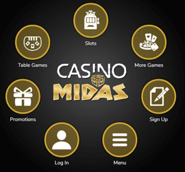 Gold Casino Midas logo