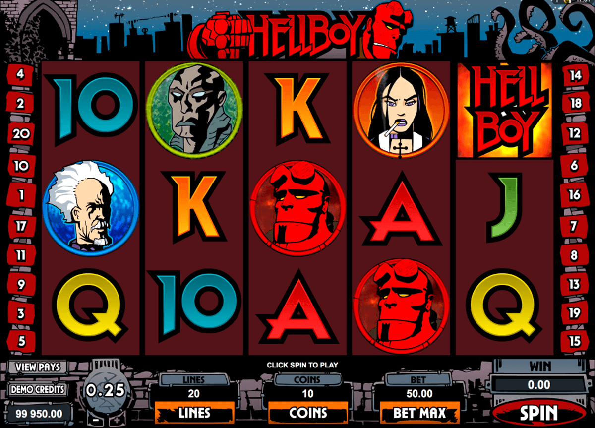 Hellboy Slots symbols